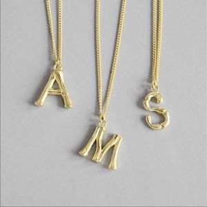 Jewelry - Authentic Sterling Silver Letter Necklace